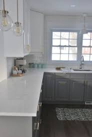 Gray Cabinets With White Countertops White Kitchen With Black Countertops Home Interior Pinterest