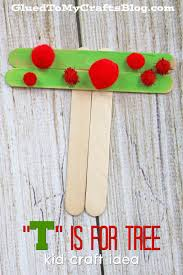 t is for tree popsicle stick kid craft trees popsicle sticks