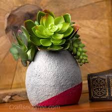 mother u0027s day craft diy a faux concrete succulent planter crafts