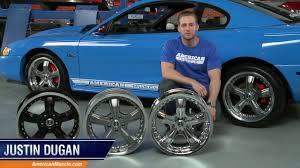 Mustang Black Chrome Wheels Mustang Shelby Razor Wheels Chrome Gunmetal And Black 94 04