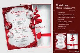 christmas menu template v4 by lou606 graphicriver