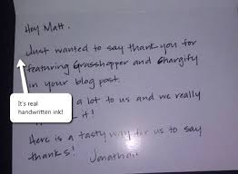 5 handwritten thank you notes that earned 5 loyal clients