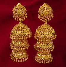 gold jhumka earrings indian style gold jhumka earrings design for women indian style