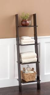 Bathroom Ladder Shelf by Amazon Com Zenna Home 9437ch Wood Ladder Linen Tower Espresso