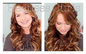 heatless hair styles curly hairstyles beautiful no heat hairstyles for curly hair no