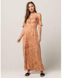 free people lost in a dream maxi dress in natural lyst