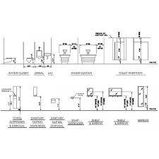 Standard Height Of Bathroom Mirror by Bathroom Fixtures Mounting Heights Cad Dwg Cadblocksfree Cad