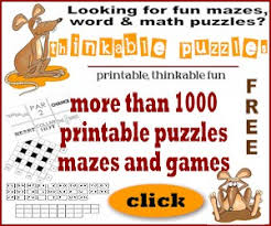 free word puzzles math puzzles u0026 games to print