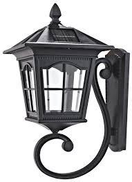 Solar Outdoor Lighting Solar Powered Motion Sensor Outdoor Lighting Wall Light Black L