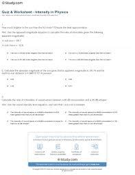 quiz u0026 worksheet intensity in physics study com