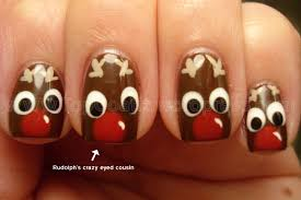 nail art reindeer beautify themselves with sweet nails