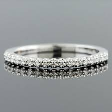 wedding band manufacturers mid century inspired fishtail set diamond 18k white gold high