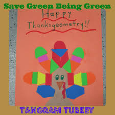 happy thanksgeometry with a tangram turkey with shapes geometry