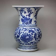 Chinese Blue And White Vase Chinese Blue And White Baluster Vase Kangxi 1662 1722 1662 To