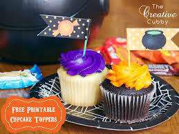 the creative cubby free printable halloween cupcake toppers