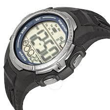bracelet digital watches images Timex men 39 s marathon black resin bracelet digital watch t5k359 jpg