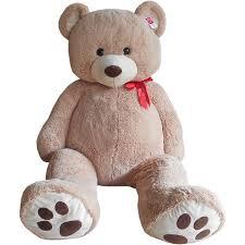 valentines day stuffed animals jumbo 6 ft teddy with bow walmart