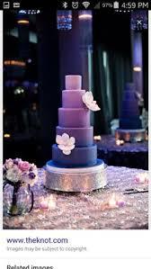 buttercream wedding cakes purple ombre hydrangea and sugaring