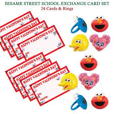 elmo valentines 24 sesame elmo s day school exchange cards sesame