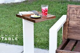Small Outdoor Table by Modern Drink Table Indoor Outdoor Diy Build Youtube