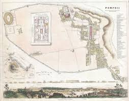 Map Of Naples Italy by 1832 Map Of Pompei Laputa