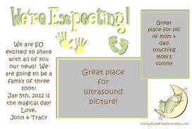 we re expecting baby announcement card digital