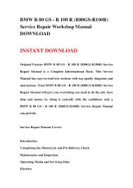 bmw r 80 gs r 100 r r80 gs r100r service repair workshop manual d u2026