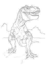 t rex dinosaur coloring page contegri com