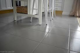 Grey Laminate Tile Flooring Painted Tile Floor Six Months Later Make Do And Diy