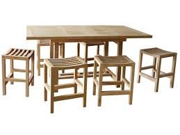introducing counter height dining sets all premium teak for