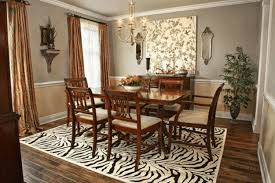 dining room wall decoration dining table ideas wood grain finish with metal frame rectangular