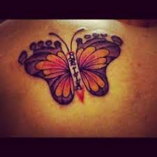 Butterfly Tattoo With Baby Footprint | baby footprint butterfly tattoo tattoos i have done pinterest