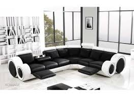 Designer Leather Sofa by Black And White Leather Corner Sofa Alleycatthemes Com