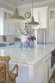 carrara marble kitchen island kitchen 3 simple tips for styling your kitchen island white vases