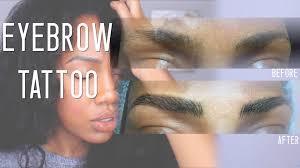 Hair Stroke Eyebrow Tattoo Nyc Microblaiding Eyebrow Tattoos On African American Skin Youtube