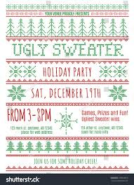 red green ugly christmas sweater party stock vector 339902819