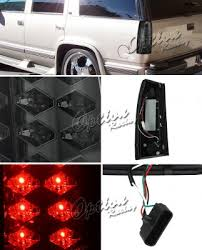 1998 chevy silverado tail lights chevy 1500 pickup 1988 1998 smoked led tail lights a103f8xb109