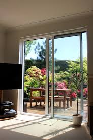Patio Door Glass Replacement Cost Image Of Aluminium Patio Doors Overlooking Back Garden With