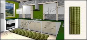 passatoie tappeti tappeti cucina economici antiscivolo verdi bianco