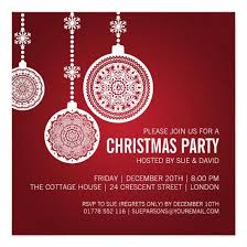 elegant christmas party ornaments red 5 25 5 25 square paper