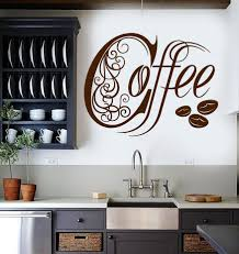 Coffee Wall Decor For Kitchen Vinyl Wall Decal Kitchen Coffee Shop House Cafe Decor Stickers