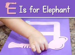letter e crafts printable letter e craft e is for elephant free