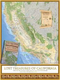 lost treasures of california map u0026 guide academia maps
