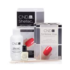 cnd shellac offly fast 8 minute removal u0026 care kit removers