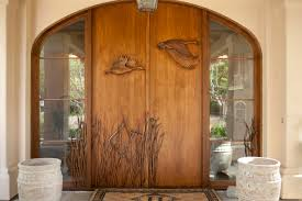 architecture contemporary entry design with door mat and glass