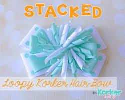 korker ribbon how to make stacked korker hair bow bows hair