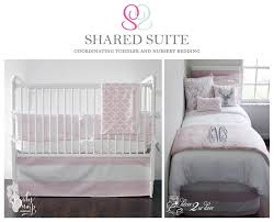 sibling shared suite coordinating toddler and crib bedding