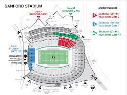 Uga Parking Map Measures Taken To Control Student Crowds At Sanford Stadium