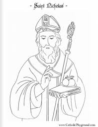 St Nicholas Coloring Pages Aecost Net Aecost Net Saints Colouring Pages