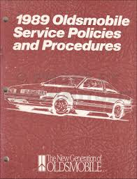 1989 oldsmobile toronado u0026 trofeo repair shop manual original